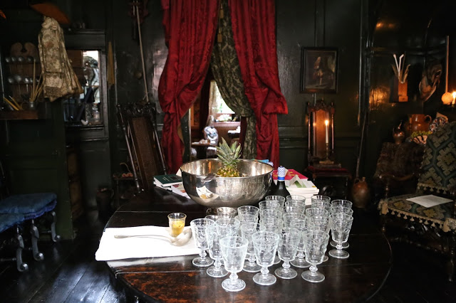 Pineapple Regency Punch at  MsMarmitelover's 18th century tea party at Dennis Severs house, 18 Folgate St, Spitalfields, london,