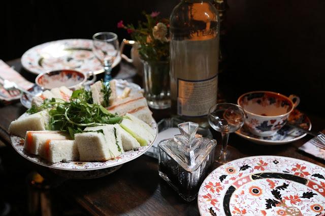 MsMarmitelover's 18th century tea party at Dennis Severs house, 18 Folgate St, Spitalfields, london,