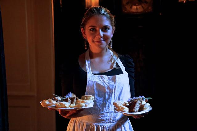 Maidservant at MsMarmitelover's 18th century tea party at Dennis Severs house, 18 Folgate St, Spitalfields, london,