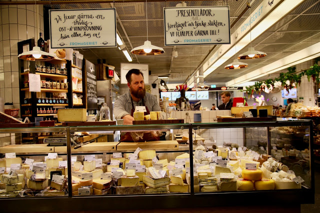 cheese shop in hotorgshallen saluhall, stockholm