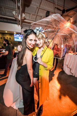 umbrella, smiles, halloween, party, studio, fashion,