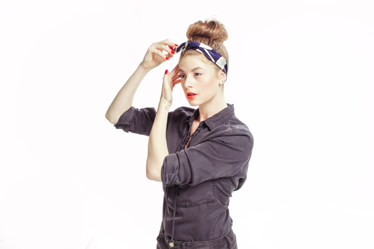 Nautical, Stripes, Lace Up Shirt, Trends, Paul Mitchell, Red White and Blue, Stripes, Silk Scarf Tutorial, Hair Tutorial, Maverick, Muse,