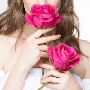 Roses, Gold Accents, Jewelry, Minimal, Beauty, Hair Inspiration, Nails, Natural, Off The Shoulder, Pink