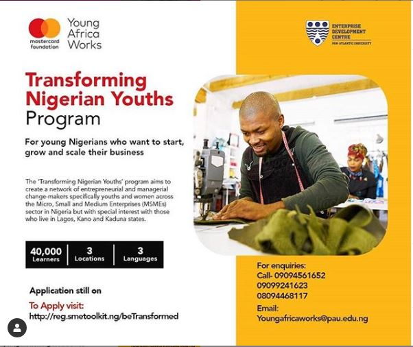 Call for Applications:Mastercard Foundation Transforming Nigerian Youths  Entrepreneurship Program for 40,000 MSMEs - MSME Africa