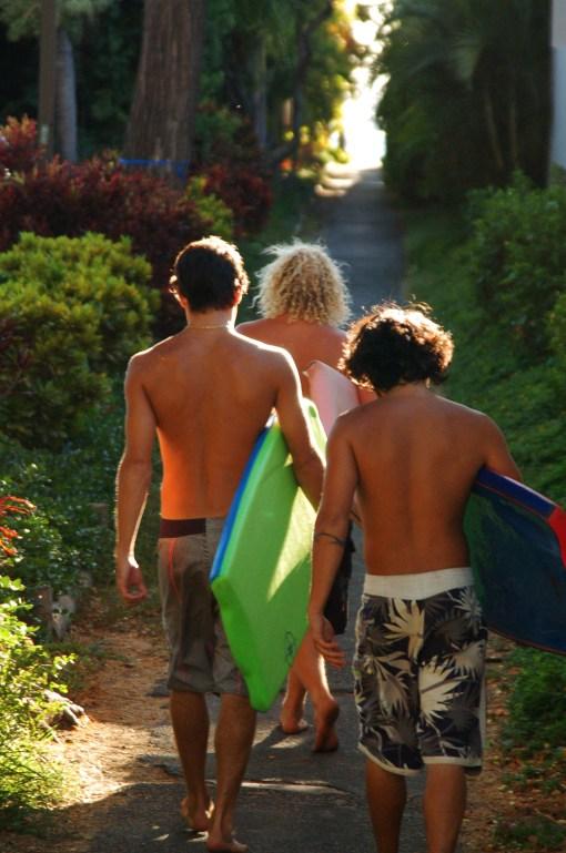 body boarders. kaanapali, hawaii.