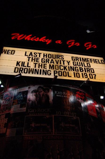 gravity guild. whisky a go go. hollywood, ca. 2007.