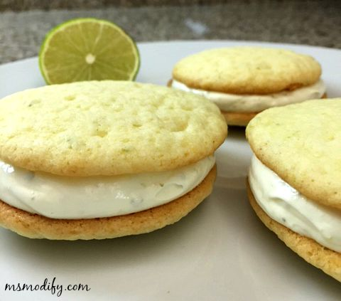 Key Lime Cookie Sandwiches