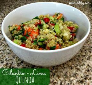 cilantro-lime quinoa