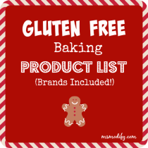 gluten free baking product list