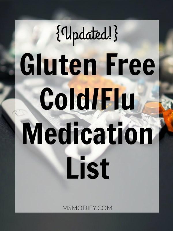 Gluten Free Cold/Flu Medication List