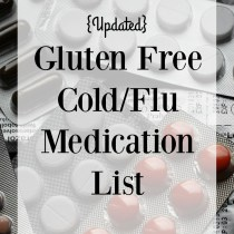 updated gluten free cold/flu medication list