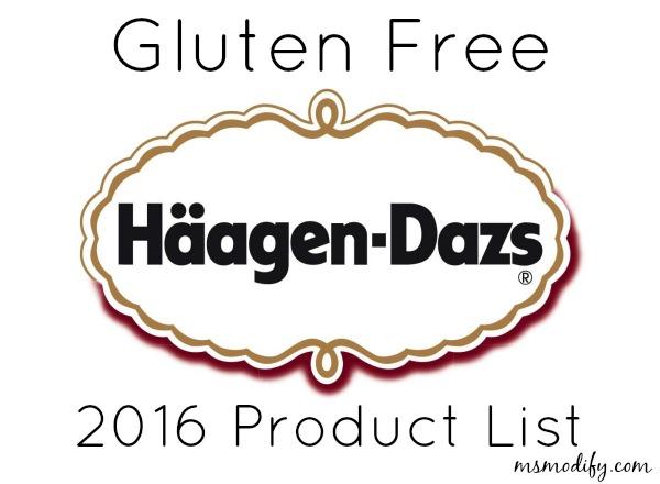 Gluten free Haagen-Dazs