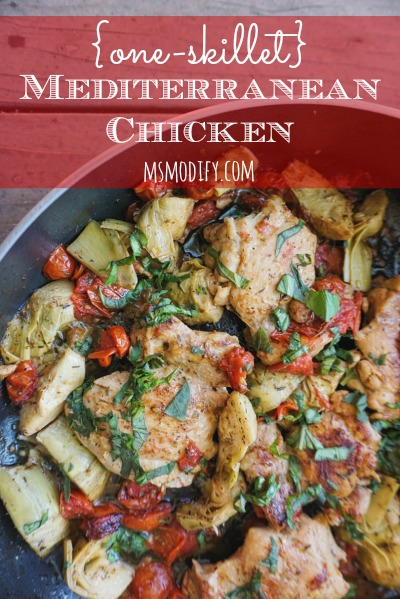 one skillet mediterranean chicken