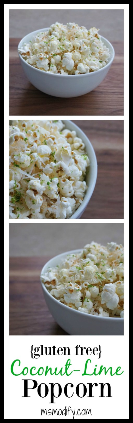 coconut lime popcorn
