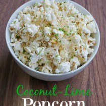 coconut-lime popcorn