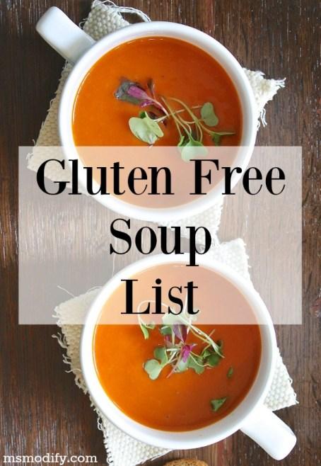 gluten free soup list