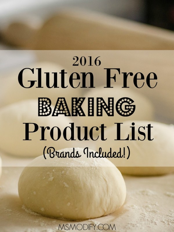 2016 gluten free baking product list