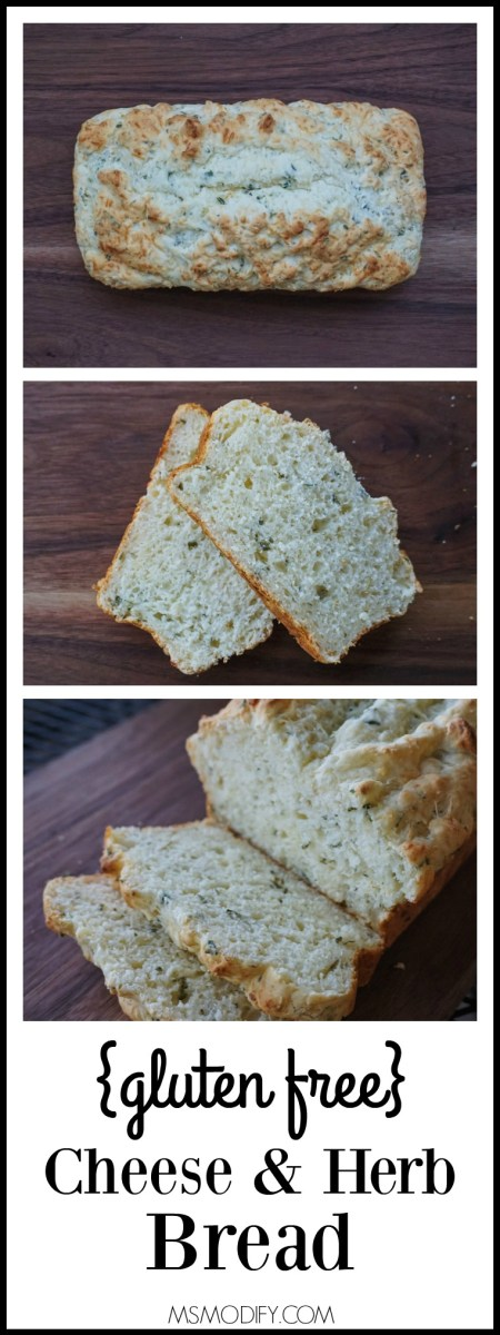 gluten free cheese & herb cheese bread