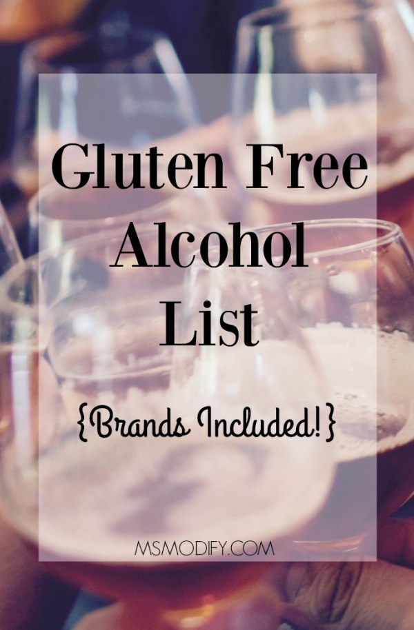 gluten free alcohol list