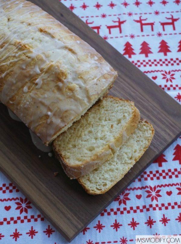 gluten free eggnog bread