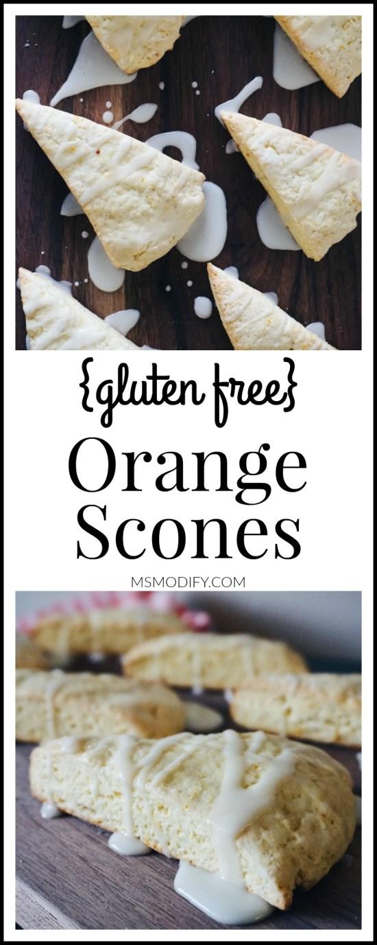 {gluten free} Orange Scones