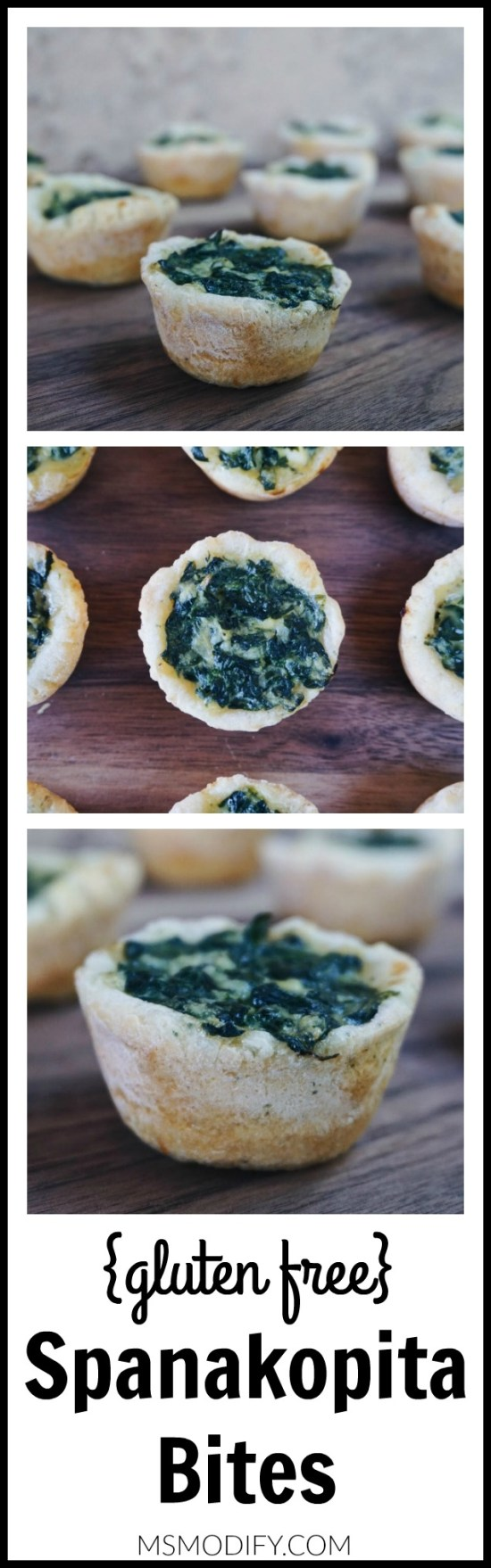 Gluten free Spanakopita bites