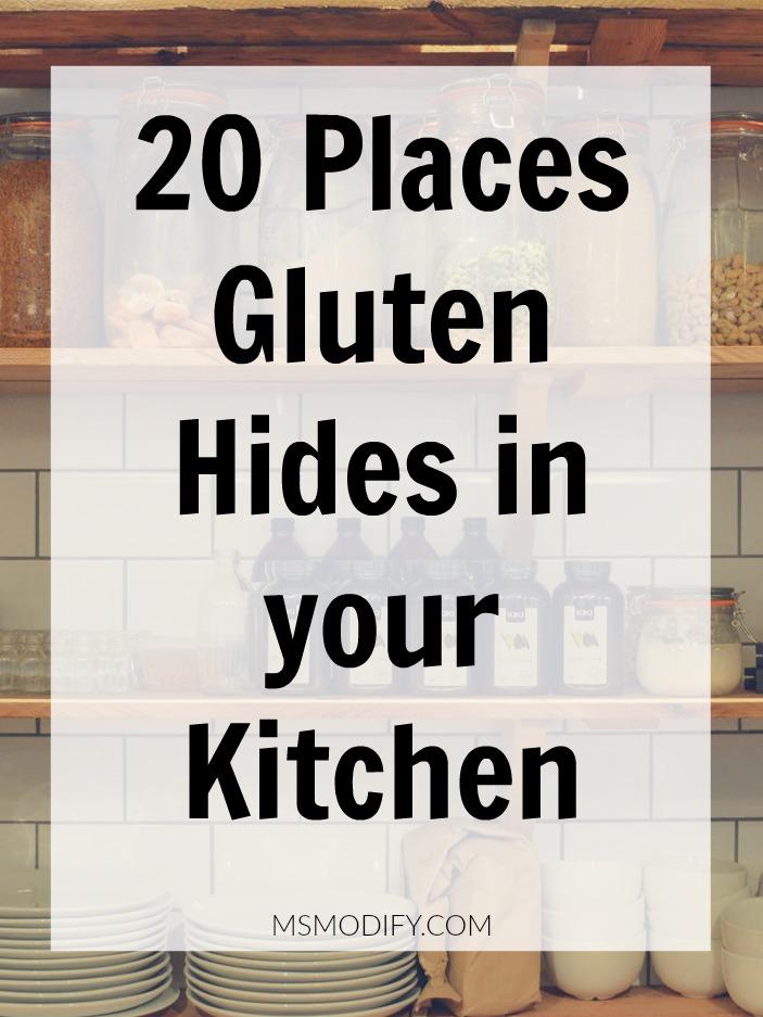 20 Places Gluten Hides in your Kitchen