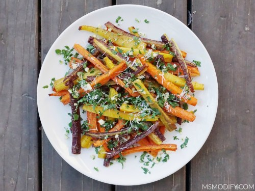 Garlic and Herb Carrot Fries