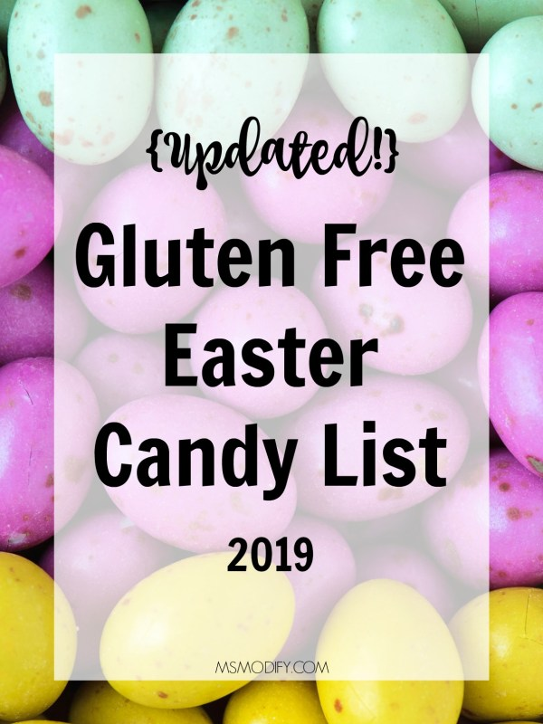 Gluten Free Easter Candy List