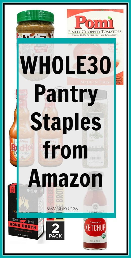 Whole30 Pantry Staples from Amazon