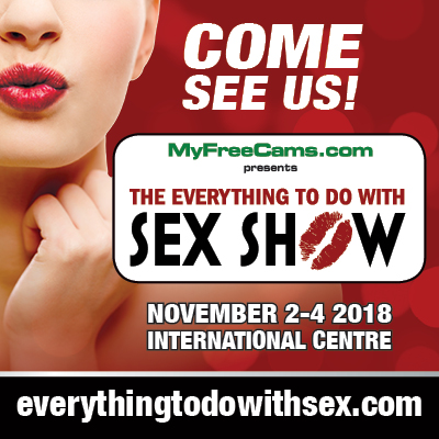 "taboo everything to do with sex show toronto [image description: a close up of a woman's lower face, she is pursing her lips to give a kiss while wearing red lipstick, her hand is under her chin. white text says ""come see us"" followed by the logo for the Everything to do with sex show. The dates of the show are listed - November 2 to 4 at the International Centre Mississauga and the website is listed at the bottom]"
