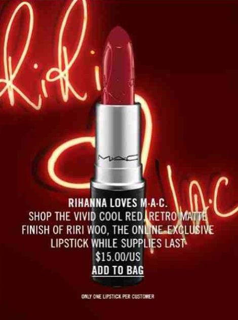 Rihanna Mac Lipstick image 5
