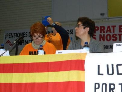 La companya Conchita Ribera, encarregada de les presentacions en companyia de Carolina Gala, Professora Titular de Dret del Treball i de la Seguretat Social de la Universitat Autònoma de Barcelona, ha estat directora de l'Observatori per la Igualtat.