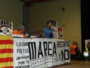 Representant dels treballadors del sector de l'hostaleria a l'Aeroport de Barcelona.