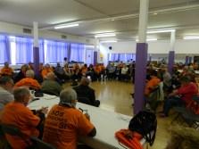 Assemblea de la coordinadora, amb presència de companys d'altres cinc comunitats, a la tarda.