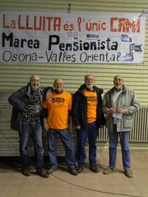 Companys de la Marea Pensionista d'Osona-Vallés Oriental.