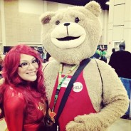 With Ted!