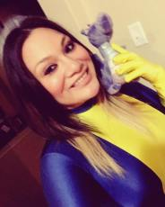 Me as Kitty Pryde with Lockheed