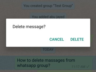 delete whatsapp group messages on android phone