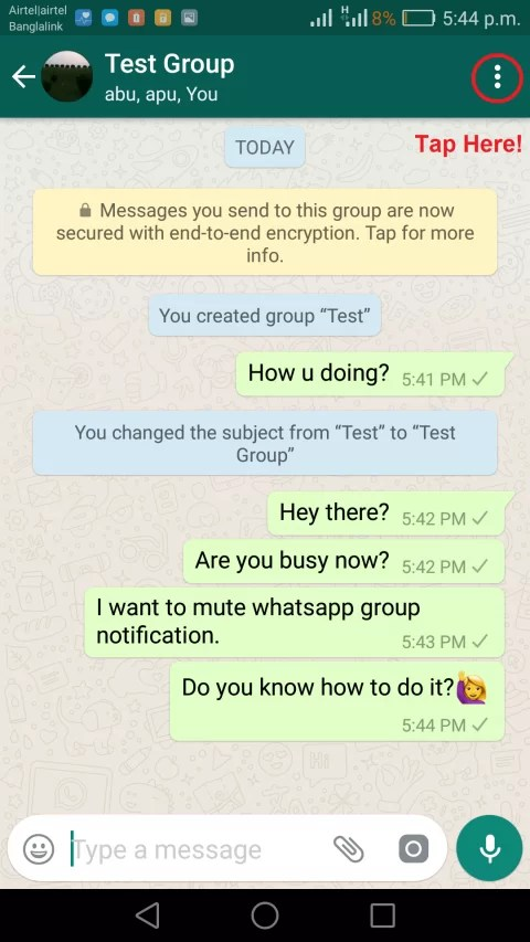 img turn off group notification on whatsapp