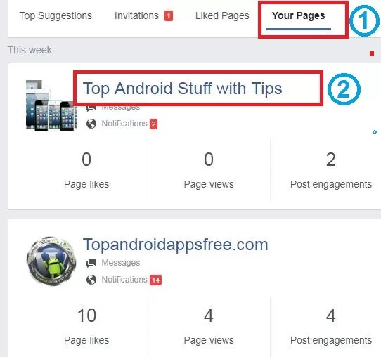 connect instagram with facebook step 2