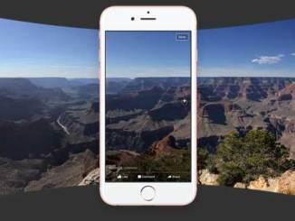 post 360 degree panorama photos on facebook
