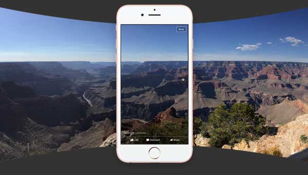 post 360 degree panorama photos on facebook