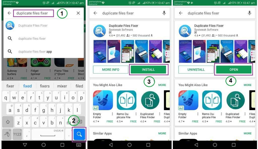 Duplicate file, photo, audio, video finder android app