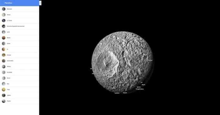 mimas moon google map