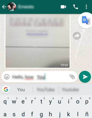 translate whatsapp message to another language