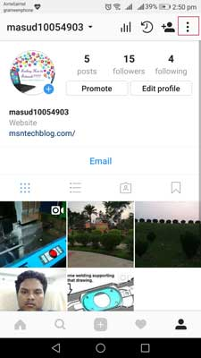 Step2 change instagram password android iphone