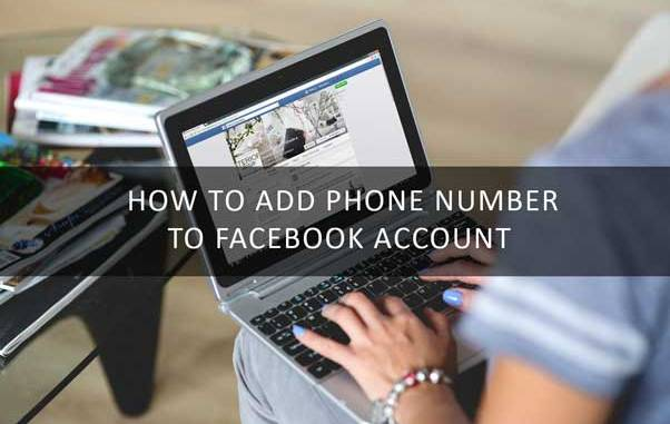 how to add phone number to facebook account