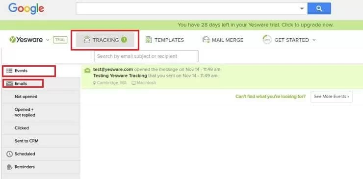 receive gmail read confirmation