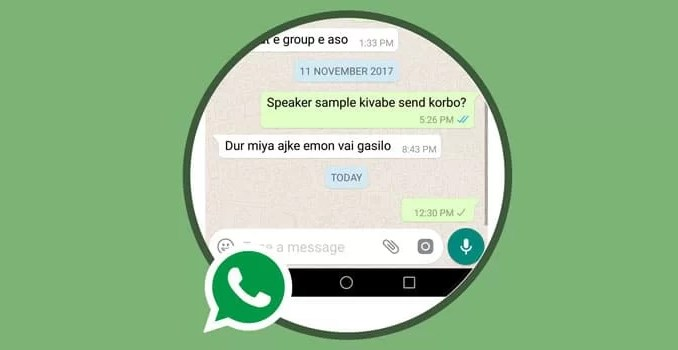 how to send empty message on WhatsApp